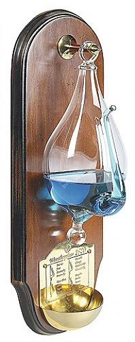 Weersverwachting weerglas gedonder in de glazen
