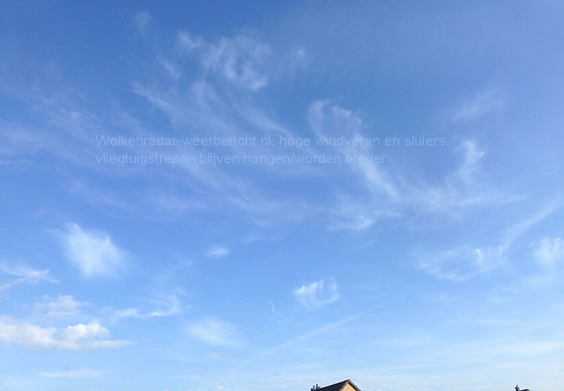 Wolkenradar windveren sluierbewolking